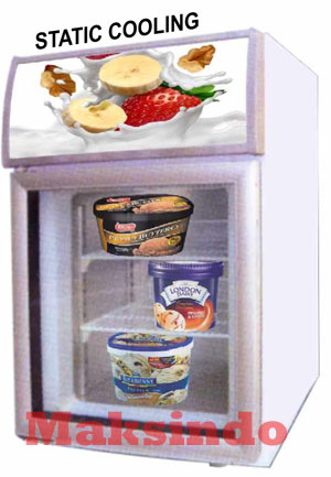 Mesin Up Right Glass Door Freezer