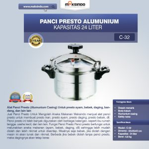 Jual Panci Presto Alumunium 7 -135 Liter di Bandung