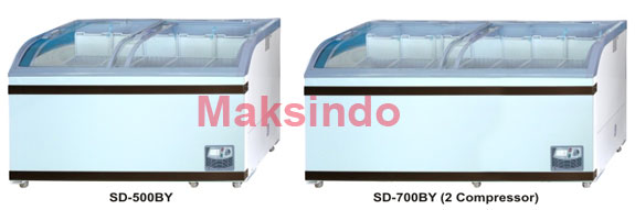 mesin-freezer-sliding-curve-glass-maksindobandung