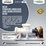 Jual Mesin Penggiling Limbah Ikan, Ayam, Daging, dll Kapasitas Besar di Bandung
