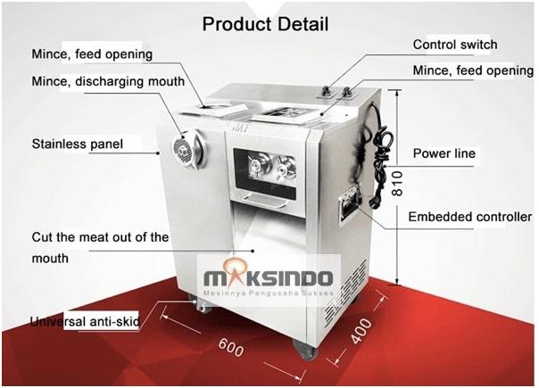Mesin Pengiris dan Penggiling Daging Standing (Kombinasi) 4 maksindobandung