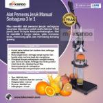 Jual Alat Pemeras Jeruk Manual Serbaguna  3 in 1 di Bandung