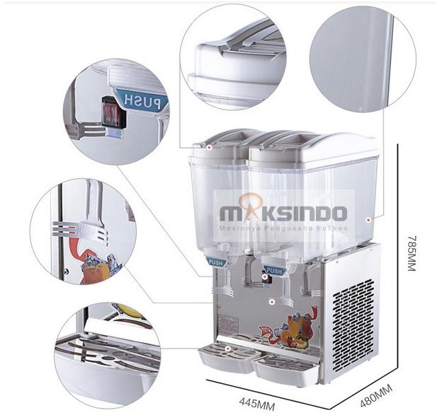 Mesin Juice Dispenser 2 Tabung (17 Liter) - DSP17x2 2 maksindobandung