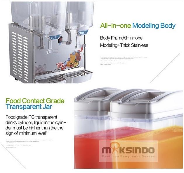 Mesin Juice Dispenser 2 Tabung (17 Liter) - DSP17x2 3 maksindobandung
