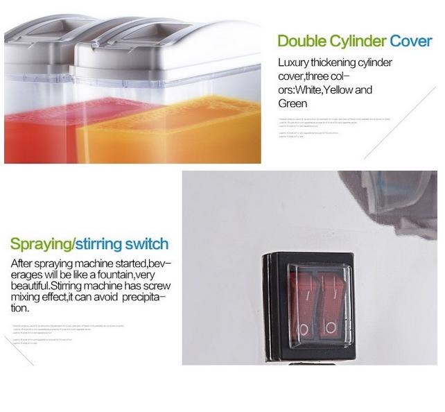 Mesin Juice Dispenser 2 Tabung (17 Liter) - DSP17x2 4 maksindobandung