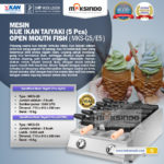Jual Mesin Kue Ikan Taiyaki 5 Pcs – Open Mouth Fish di Bandung
