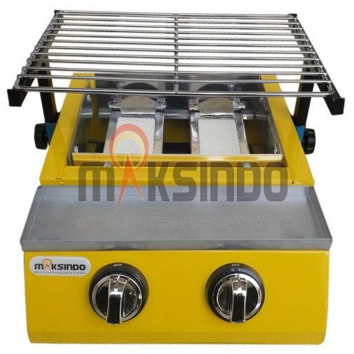 Mesin Pemanggang Sate - BBQ 2 Tungku (Gas)