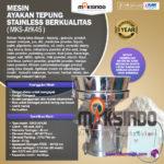 Jual Mesin Ayakan Tepung Stainless Berkualitas di Bandung