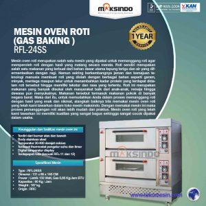 Jual Mesin Oven Roti Gas 4 Loyang (MKS-RS24) di Bandung