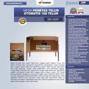 Jual Mesin Penetas Telur Otomatis 100 Telur (EM-100AT) di Bandung