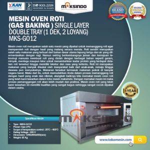 Jual Mesin Oven Gas 2 Loyang (MKS-GO12) di Bandung