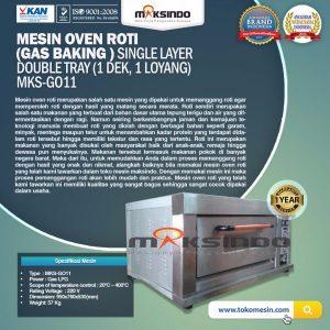 Jual Mesin Oven Roti Gas (MKS-GO11) di Bandung