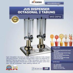 Jual Jus Dispenser Octagonal 2 Tabung  (DSP32) di Bandung