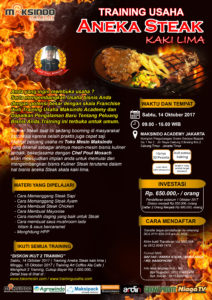 Training Usaha Aneka Steak Kaki Lima, 14 Oktober 2017