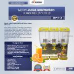 Jual Mesin Juice Dispenser 3 Tabung (17 Liter) – DSP17x3 di Bandung