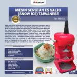 Jual Mesin Serutan Es Salju (Snow Ice) Taiwanese di Bandung