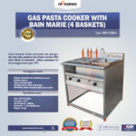 Jual Gas Pasta Cooker With Bain Marie (4 Baskets) MKS-PCBM4 di Bandung