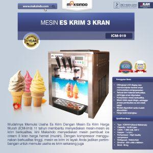 Jual Mesin Es Krim 3 Kran ICM919 di Bandung