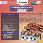 Jual Pemanggang BBQ Stainless (gas) 4 Tungku di Bandung