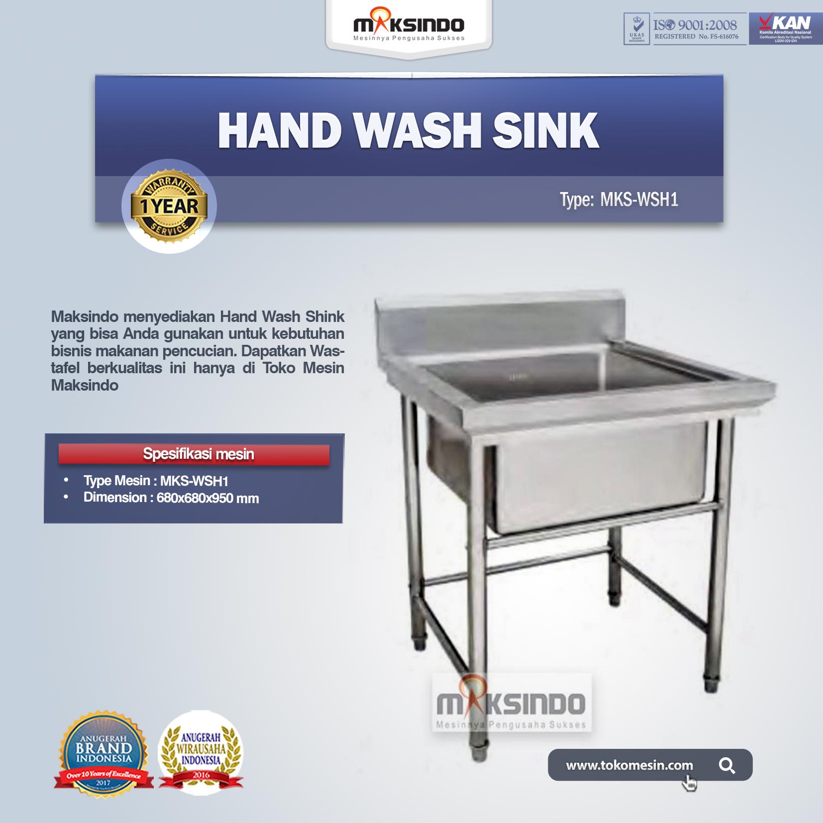 Jual Hand Wash Sink MKS WSH1 Di Bandung