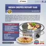 Jual Mesin Crepes Rotary Gas (MKS-CRP60) di Bandung