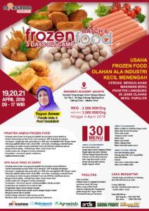 Training Usaha Frozen Food, 19,20,21 April 2018