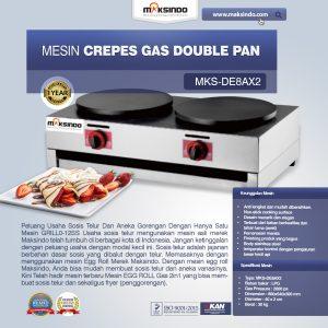 Jual Mesin Crepes Gas Double Pan (DE8Ax2) di Bandung
