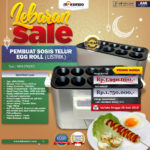 Diskon 10% Mesin Pembuat Egg Roll (Listrik) di Bandung