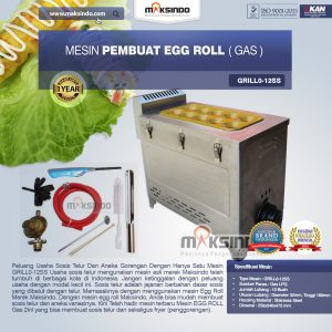 Jual Mesin Pembuat Egg Roll (Gas) GRILLO-12SS di Bandung