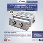Jual Pemanggang Serbaguna – Gas BBQ Grill 2 Tungku Full Stainless di Bandung