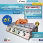 Jual Pemanggang Serbaguna Full Stainless – Gas BBQ Grill 4 Tungku di Bandung