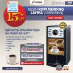 Jual Mesin Kopi Vending LAFIRA (3 Minuman) di Bandung