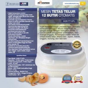 Jual Mesin Tetas Telur 12 Butir Otomatis – AGR-TT12PL di Bandung