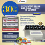 Mesin Pembuat Egg Roll (Listrik) MKS-ERG001 di Bandung