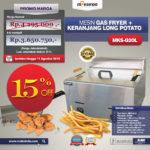 Jual Mesin Gas Fryer MKS-G20L + Keranjang di Bandung