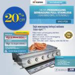 Jual Pemanggang Serbaguna Full Stainless – Gas BBQ Grill 6 Tungku di Bandung