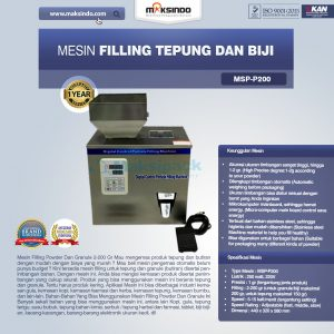Jual Mesin Filling Tepung dan Biji (2-200 gr) di Bandung