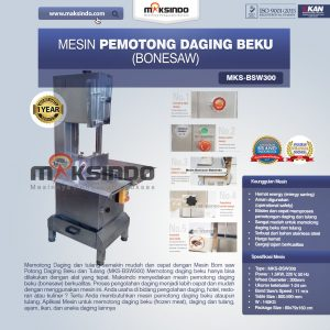 Jual Mesin Mesin Bonesaw Potong Daging Beku dan Tulang (MKS-BSW300) di Bandung