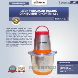 Jual Mesin Pencacah Daging Dan Bumbu (Chopper) MKS-BLD1.5L di Bandung