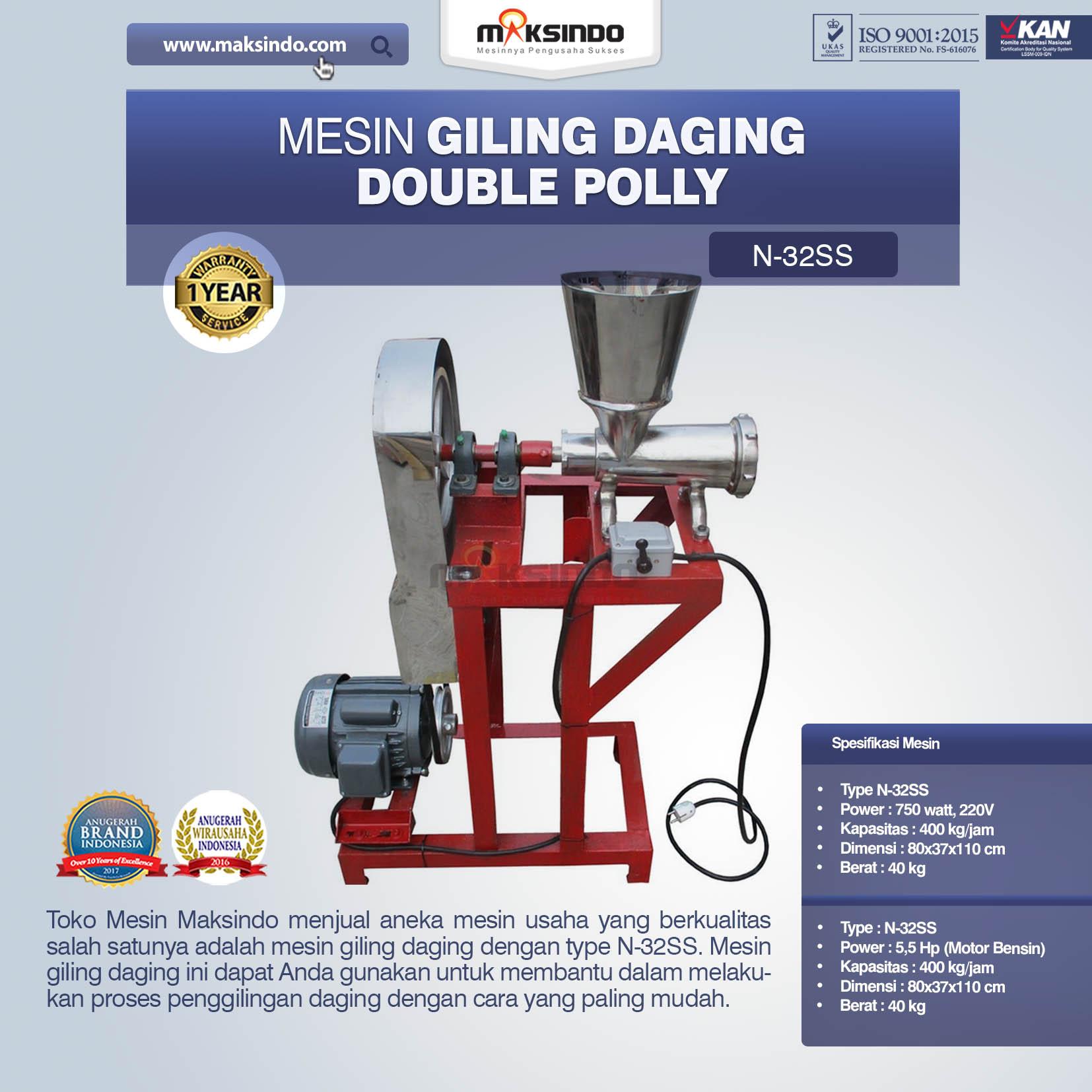 Jual Mesin Giling Daging Double Polly N-32SS di Bandung