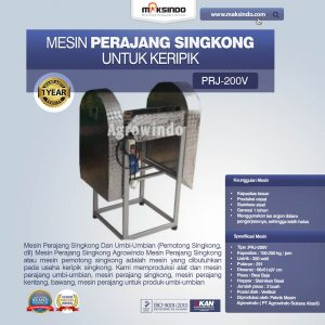 Jual Mesin Perajang Singkong Untuk Keripik di Bandung
