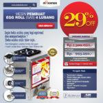 Jual Mesin Pembuat Egg Roll (Gas) 4 Lubang MKS-ERG444 di Bandung