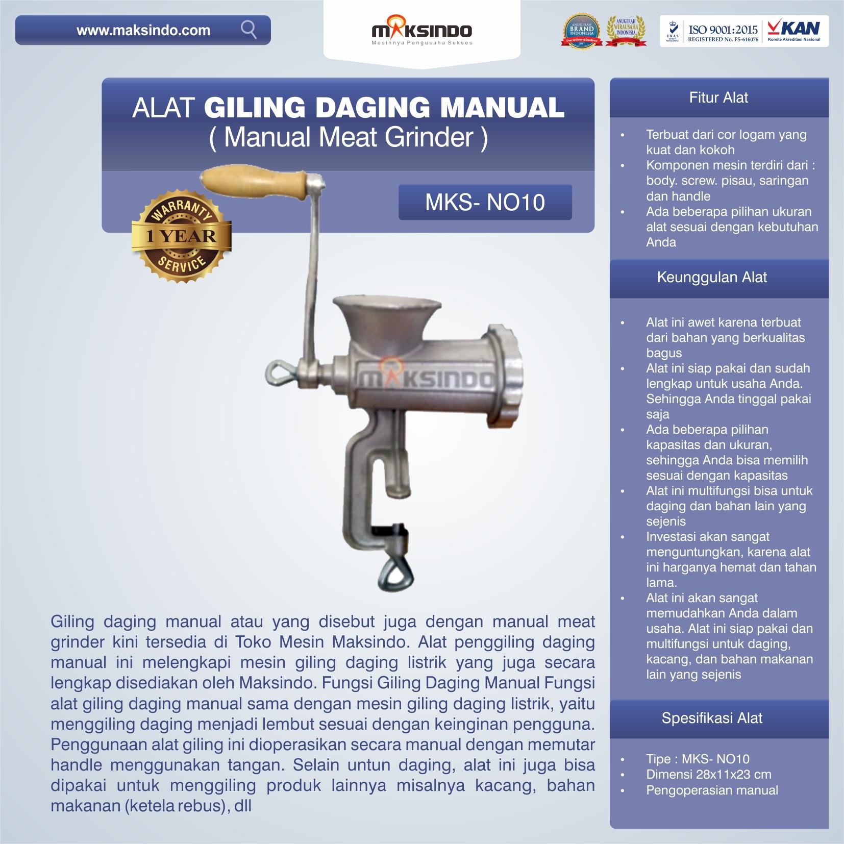 Jual Alat Giling Daging Manual (Iron) di Bandung