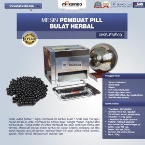 Jual Mesin Pembuat Pill Bulat Herbal (FMS99) di Bandung
