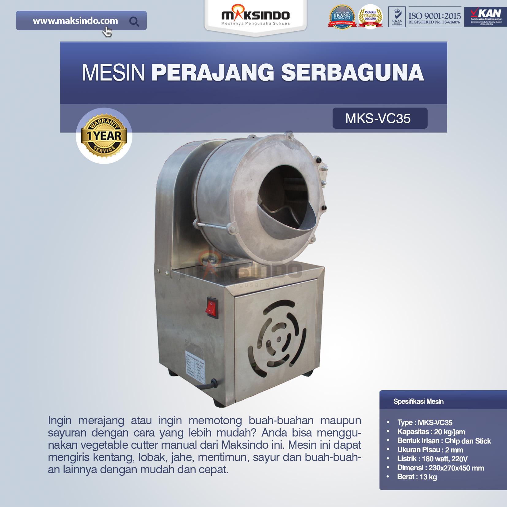 Jual Mesin Perajang SerbagunaMKS-VC35 di Bandung