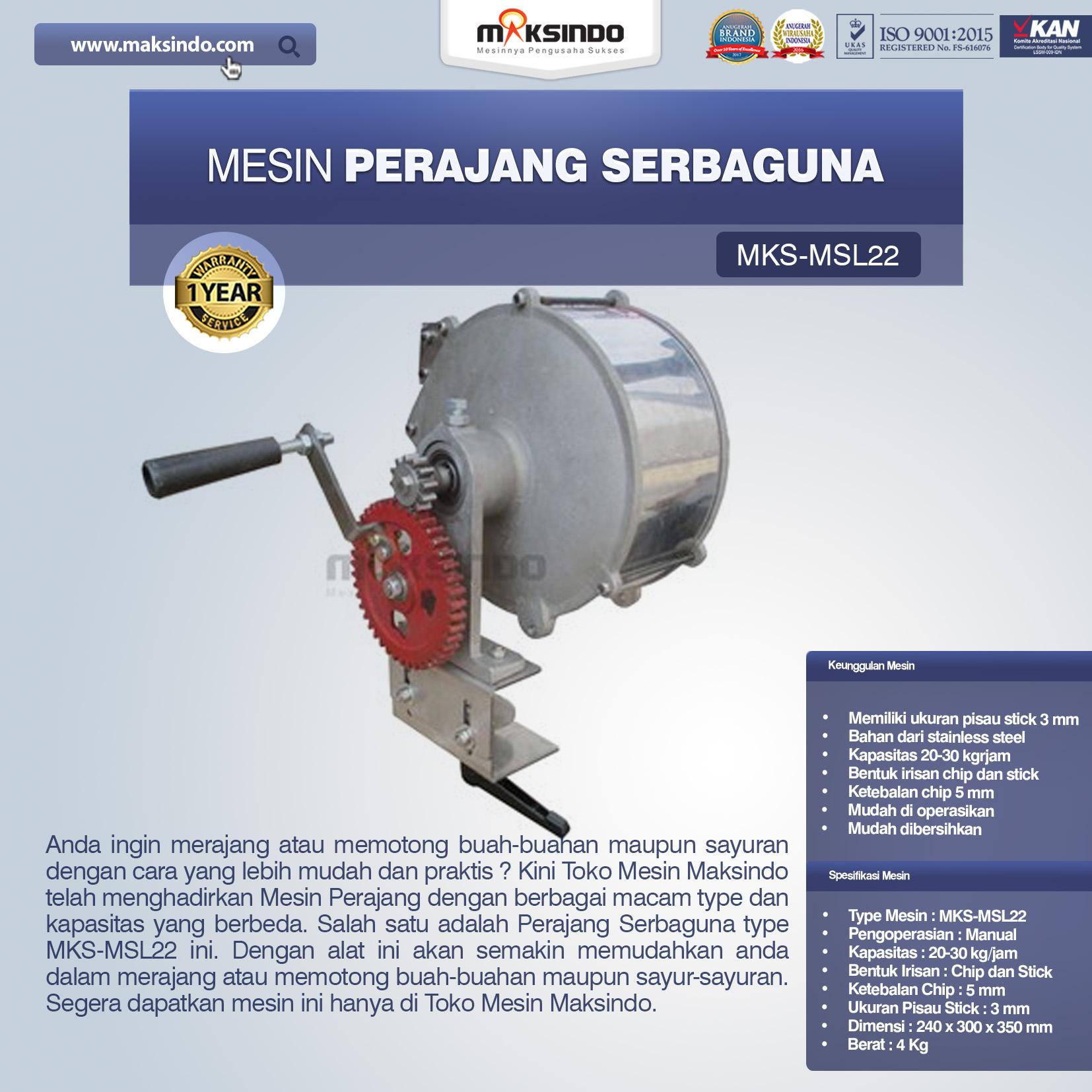 Jual Perajang Serbaguna MKS-MSL22 di Bandung
