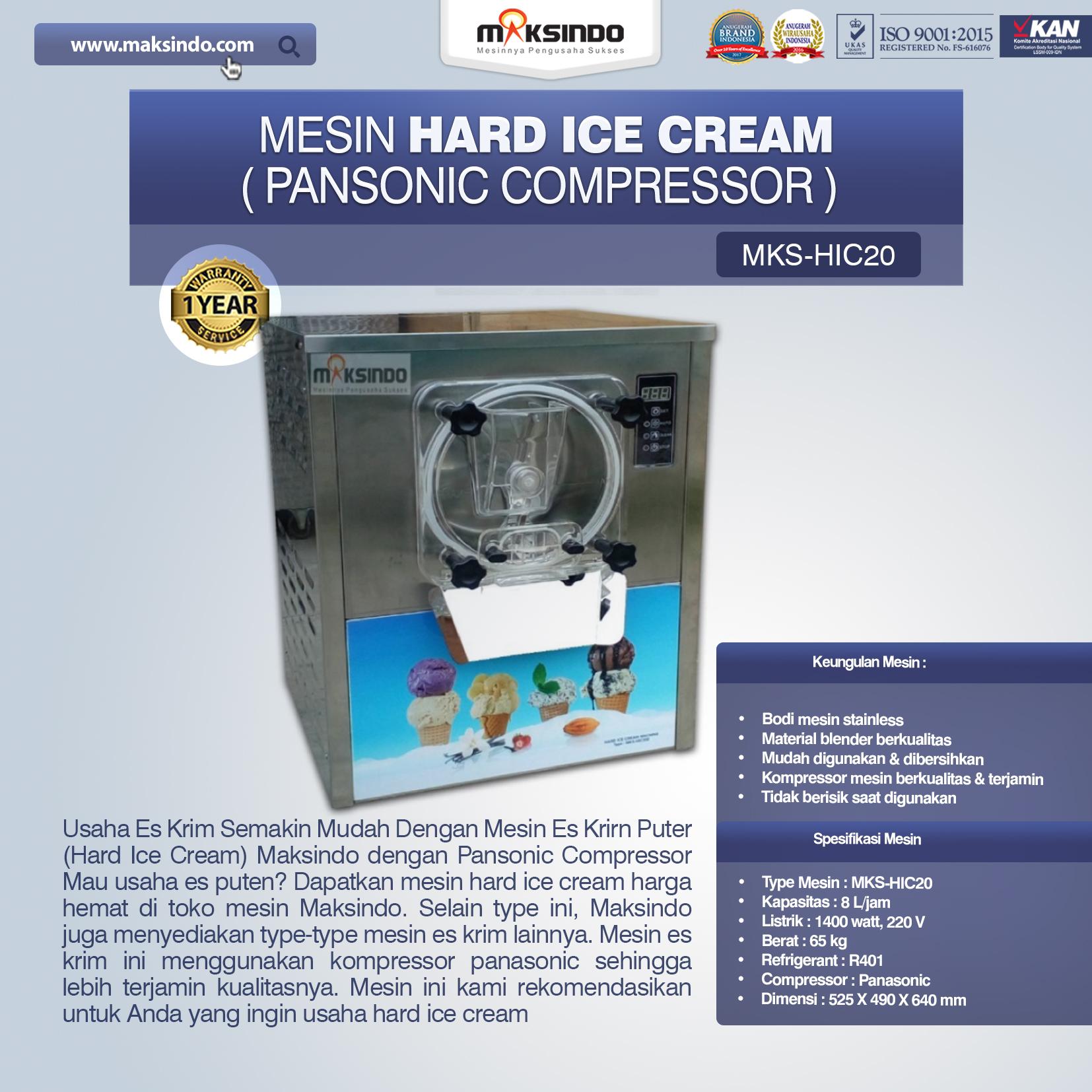 Jual Mesin Hard Ice Cream (HIC20) di Bandung