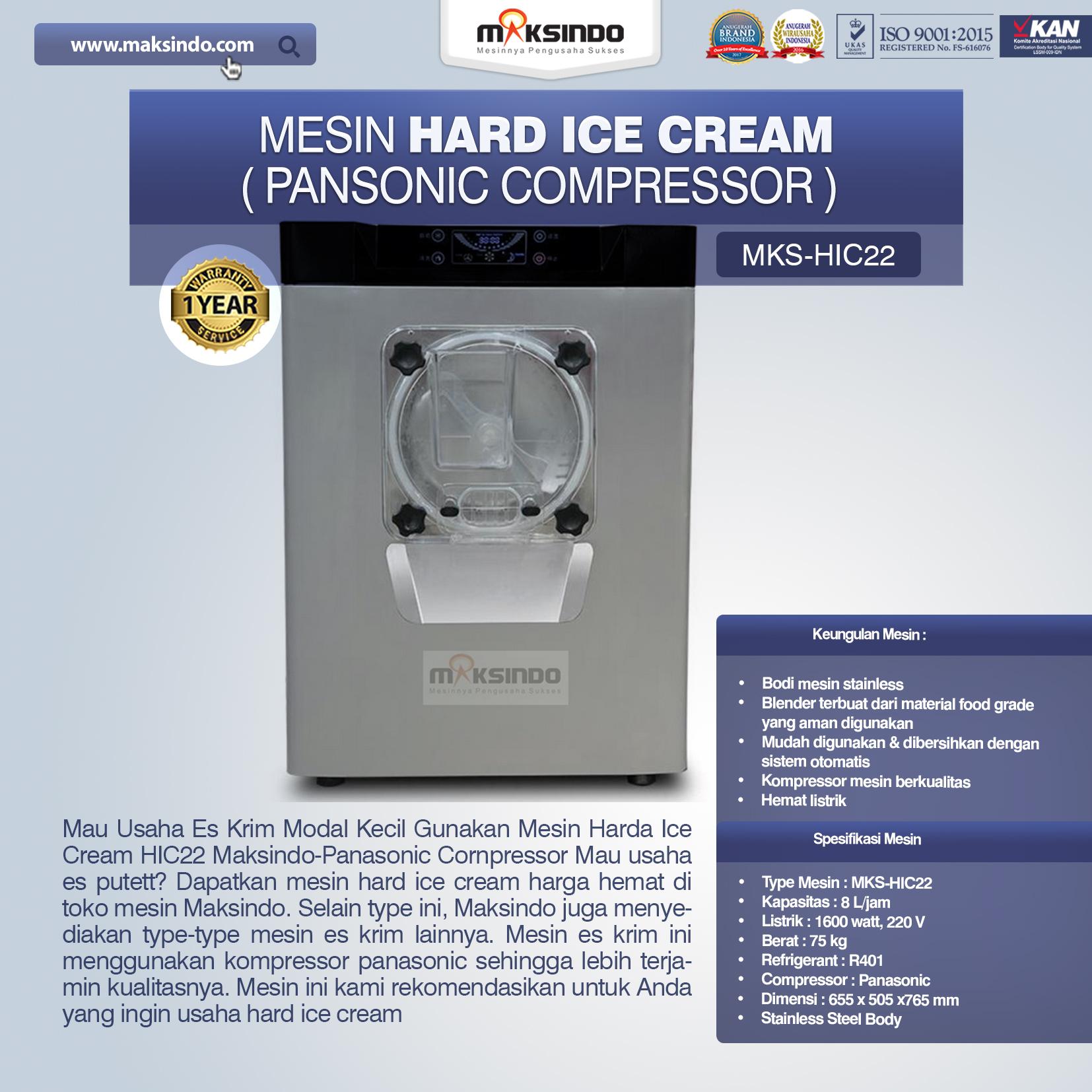 Jual Mesin Hard Ice Cream (HIC22) di Bandung