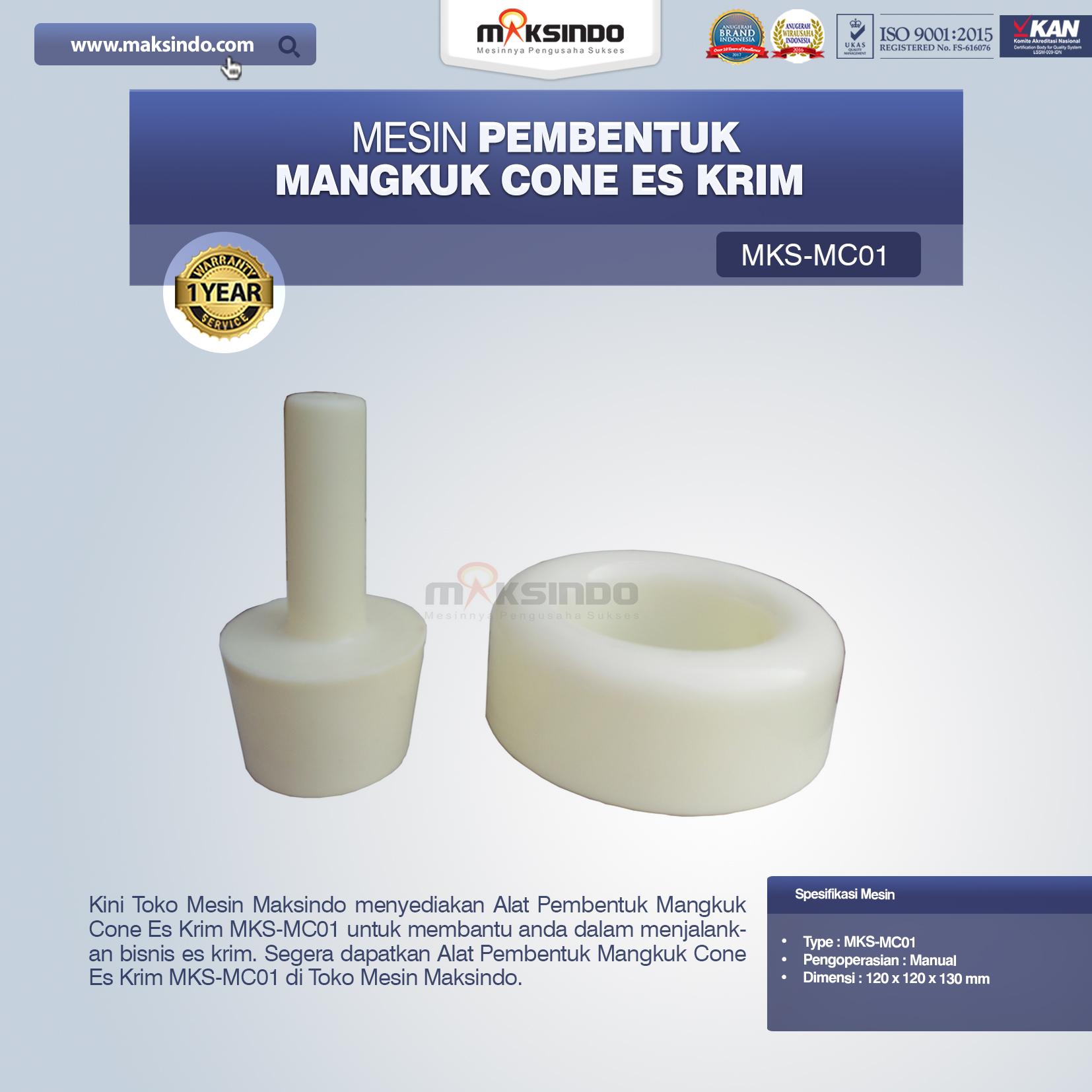 Jual Alat Pembentuk Mangkuk Cone Es Krim MKS-MC01 di Bandung