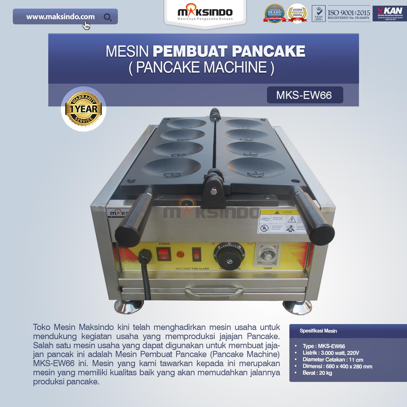 Jual Mesin Pembuat Pancake (Pancake Machine) MKS-EW66 di Bandung